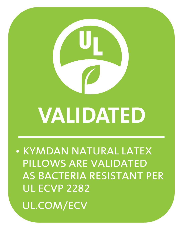 Chứng nhận mousse gối KYMDAN có khả năng kháng vi khuẩn do Tổ chức UL - Underwriters Laboratories Hoa Kỳ cấp
