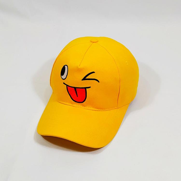 Nón kết - mũ lưỡi trai kaki icon mặt cười nam nữ NON0219C