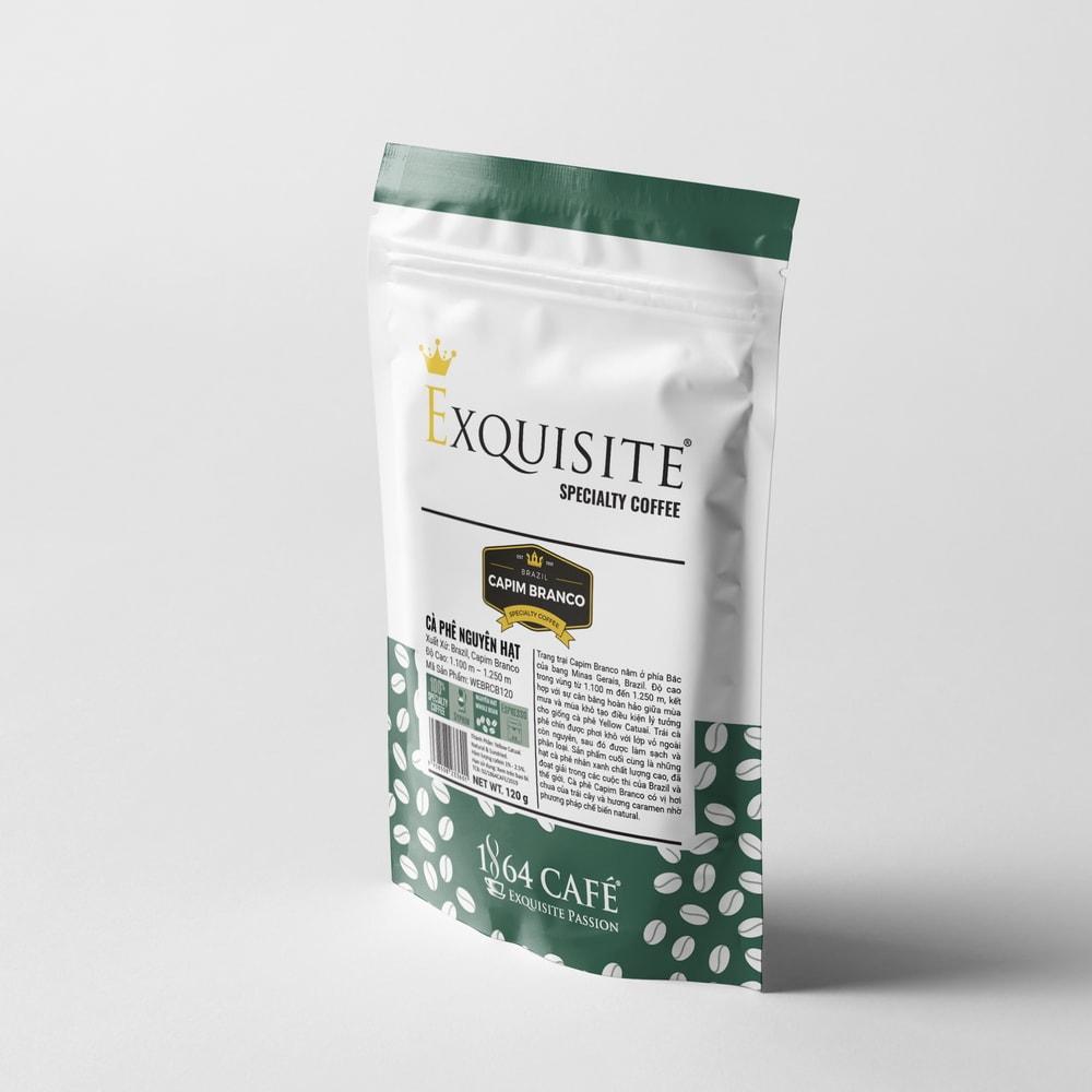 120g Specialty coffee nguyên hạt brazil capim branco cà phê hảo hạng exquisite®