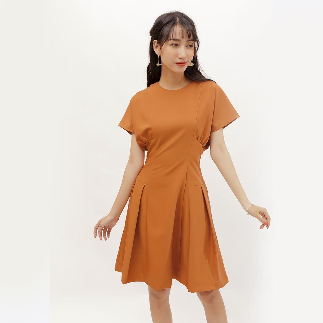 Đầm xòe thời trang Eden tay cánh dơi – D378
