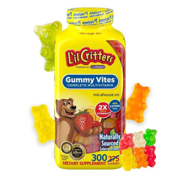L'il Cristers Gummy Vites 300 viên có hương thơm trái cây tự nhiên giúp bé dễ dàng thưởng thức