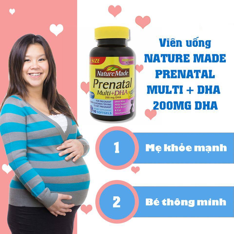 Prenatal Multi DHA 150 viên giúp bổ sung vitamin và khoáng chất cần thiết cho sự phát triển toàn diện của bé ngay từ trong bụng mẹ