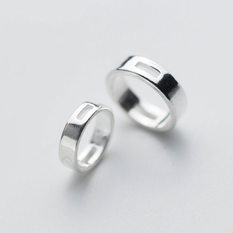 Charm bạc viền tròn để lồng hạt vào giữa – đường kính ngoài 10mm