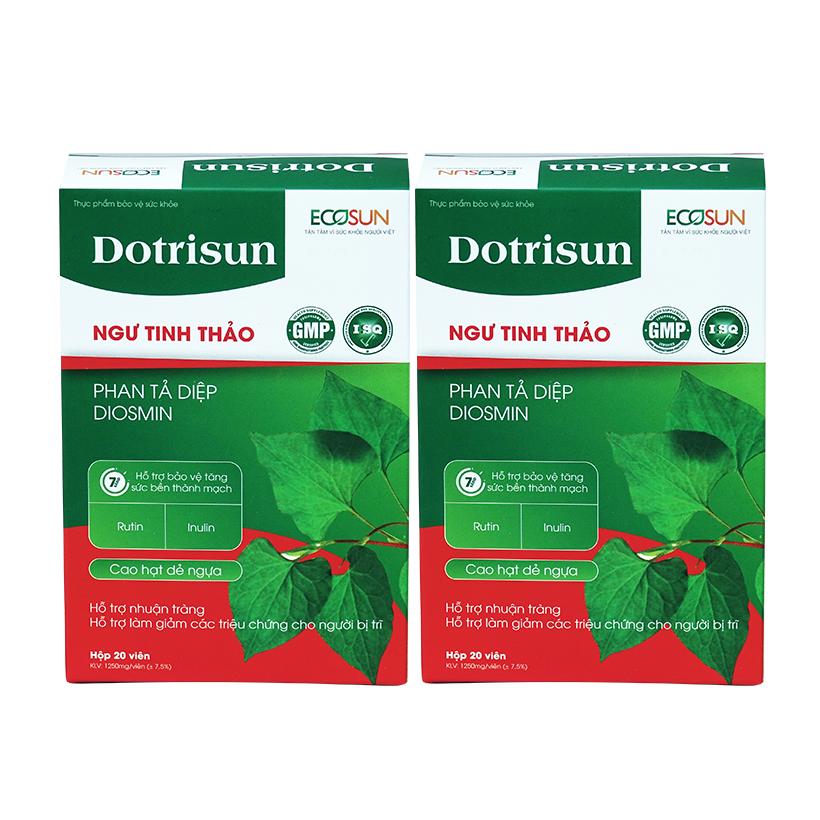 Combo 2 hộp Dotrisun – tiêu trĩ nhuận tràng, hỗ trợ giảm các triệu chứng của bệnh trĩ, ngăn ngừa táo bón