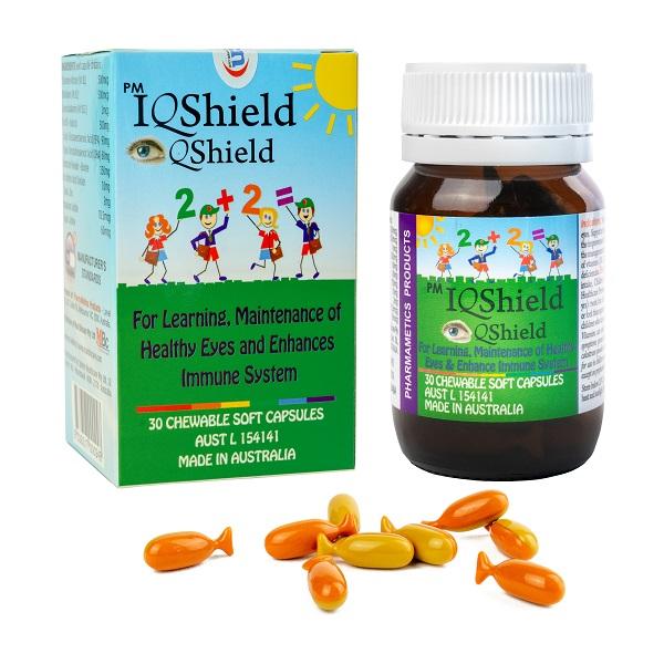 PM IQShield cho sức khỏe hệ thần kinh, mắt và hệ miễn dịch của trẻ em