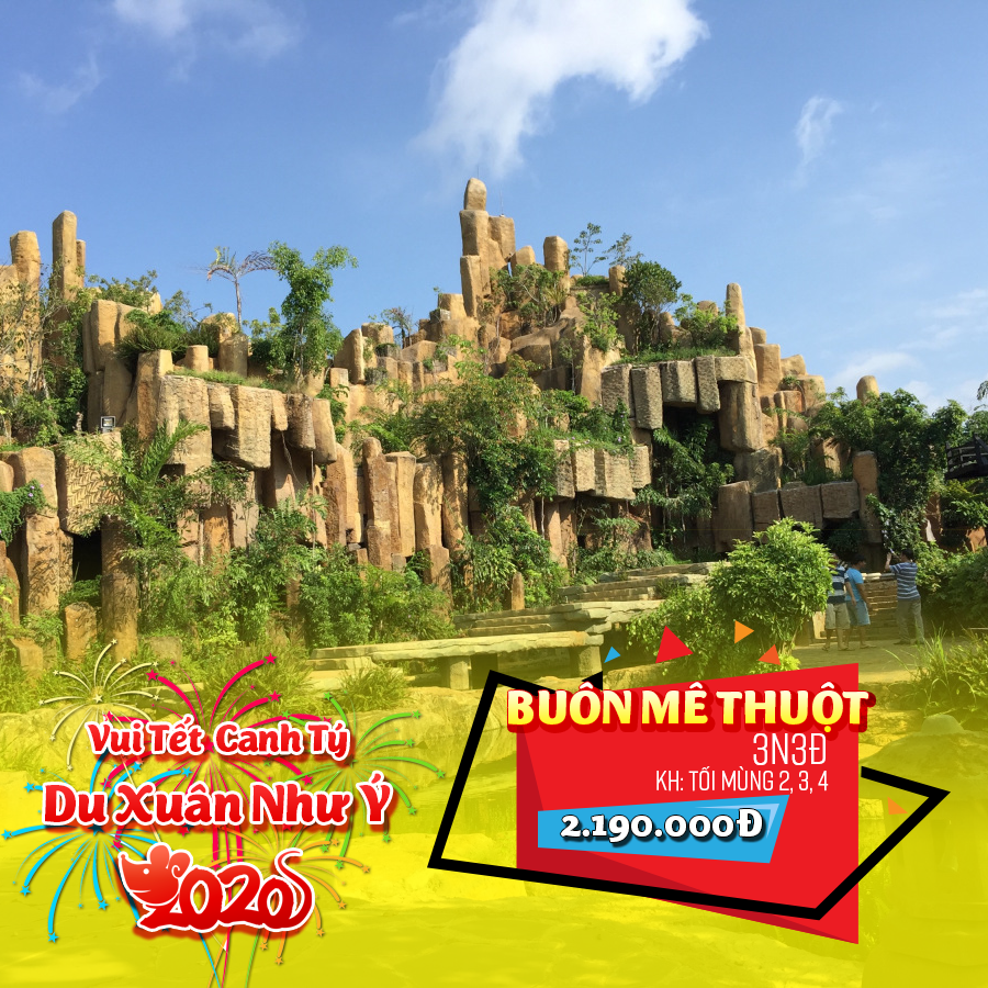 Tour Buôn Mê Thuột 3N3Đ Tết Nguyên Đán 2020
