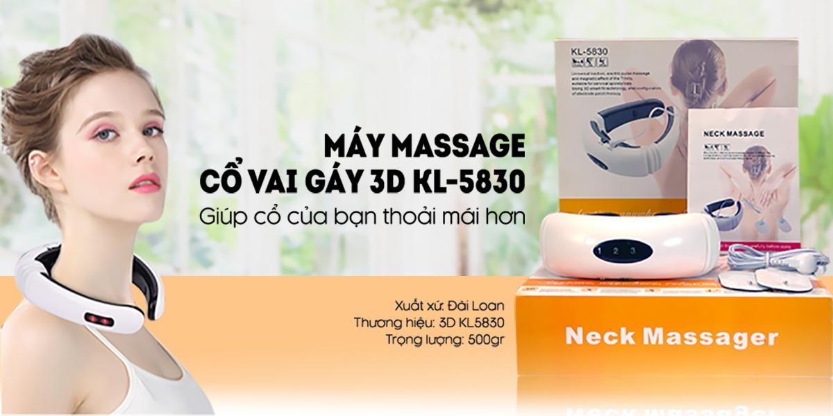 Máy Massage Cổ Vai Gáy Hồng Ngoại chữ C - 3D KL5830