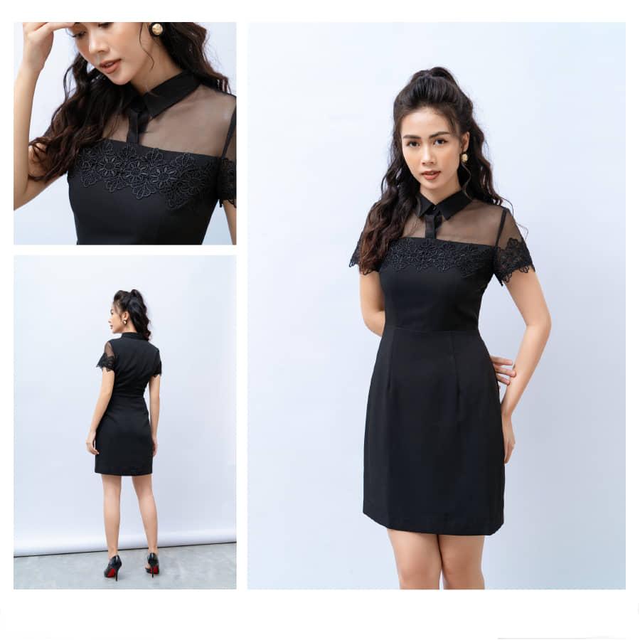 Đầm liền màu đen HeraDG - SDC18095
