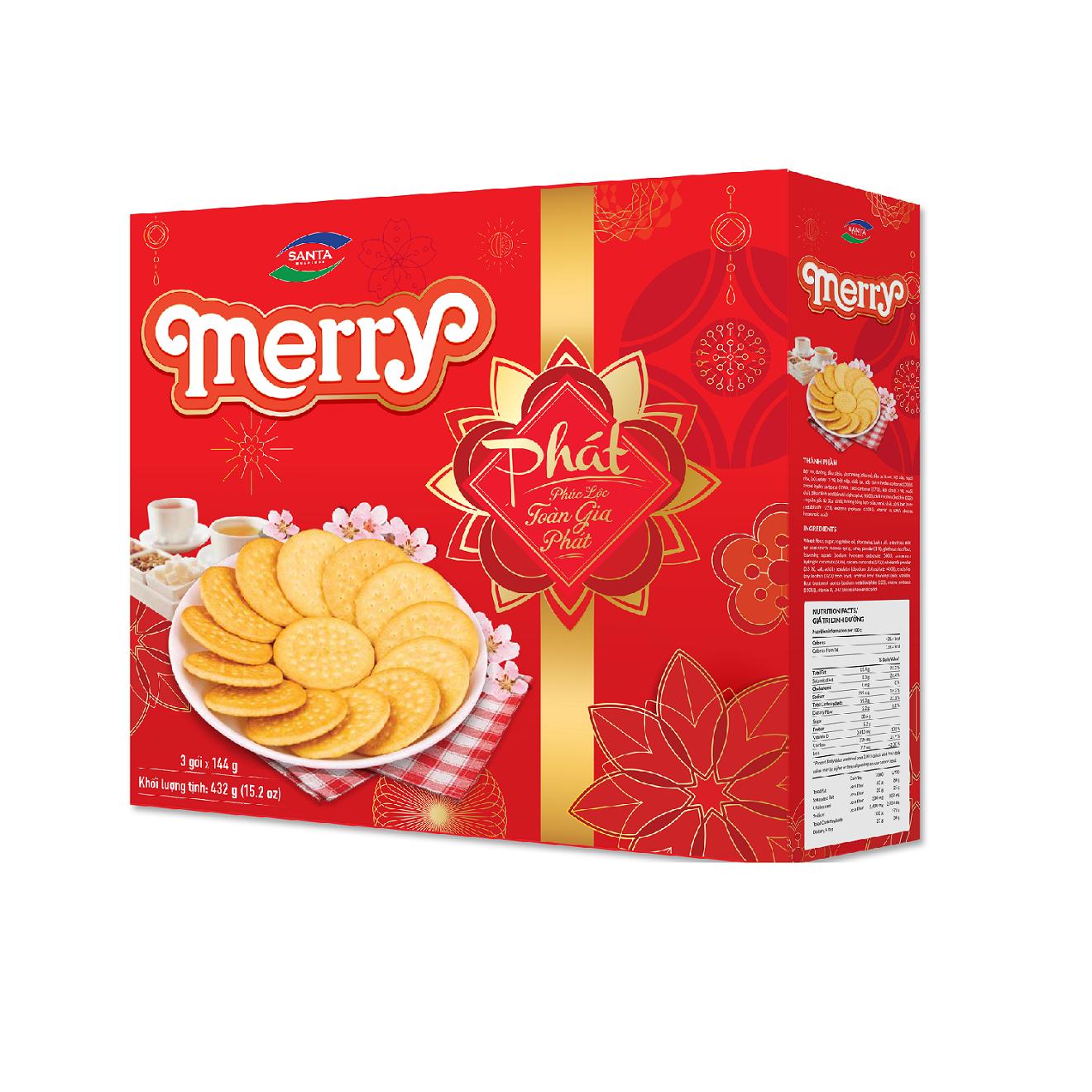 Bánh quy Merry sữa Phát 432g