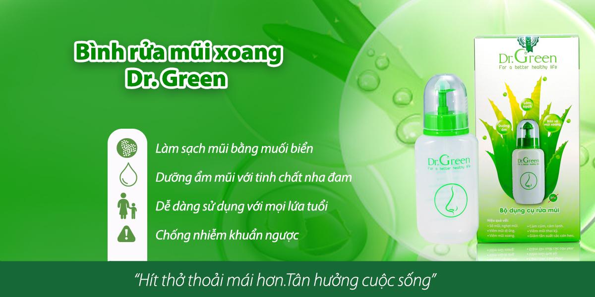 Bình rửa mũi xoang Dr. Green