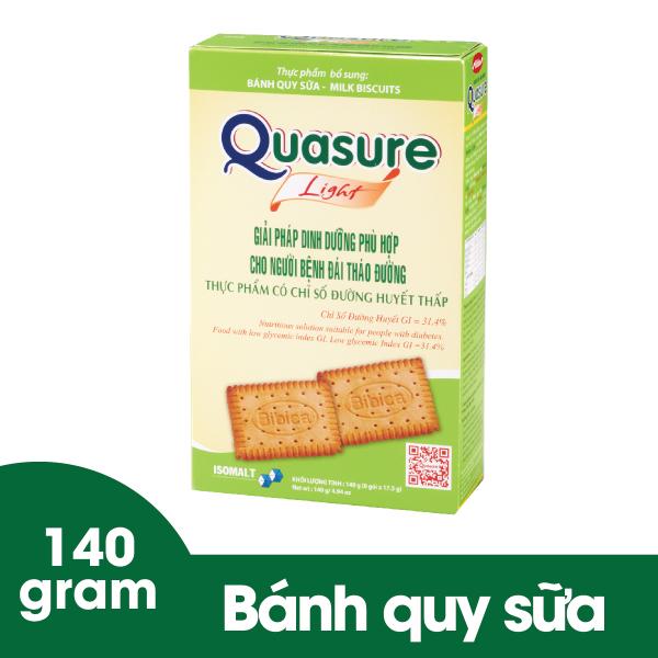 Bánh quy Quasure Light hộp 140 gram Bibica dành cho người ăn kiêng, tiểu đường