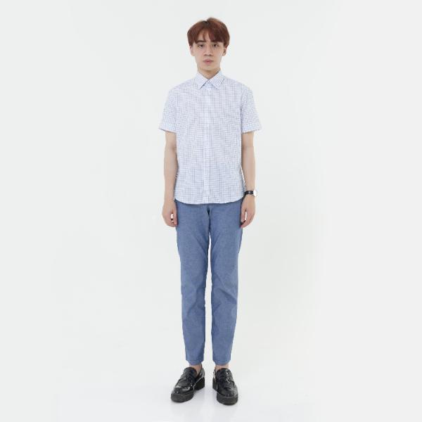 Áo sơ mi nam tay ngắn The Shirts Studio Hàn Quốc 13F2310BL