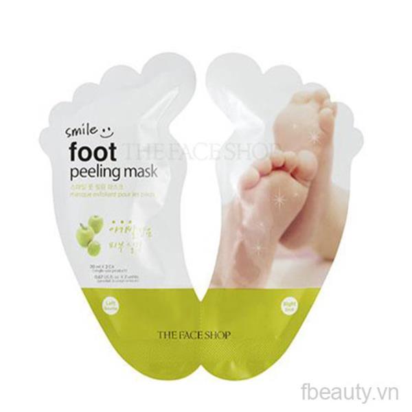 Mặt nạ tẩy da chết chân The Face Shop smile foot peeling mask 20ml