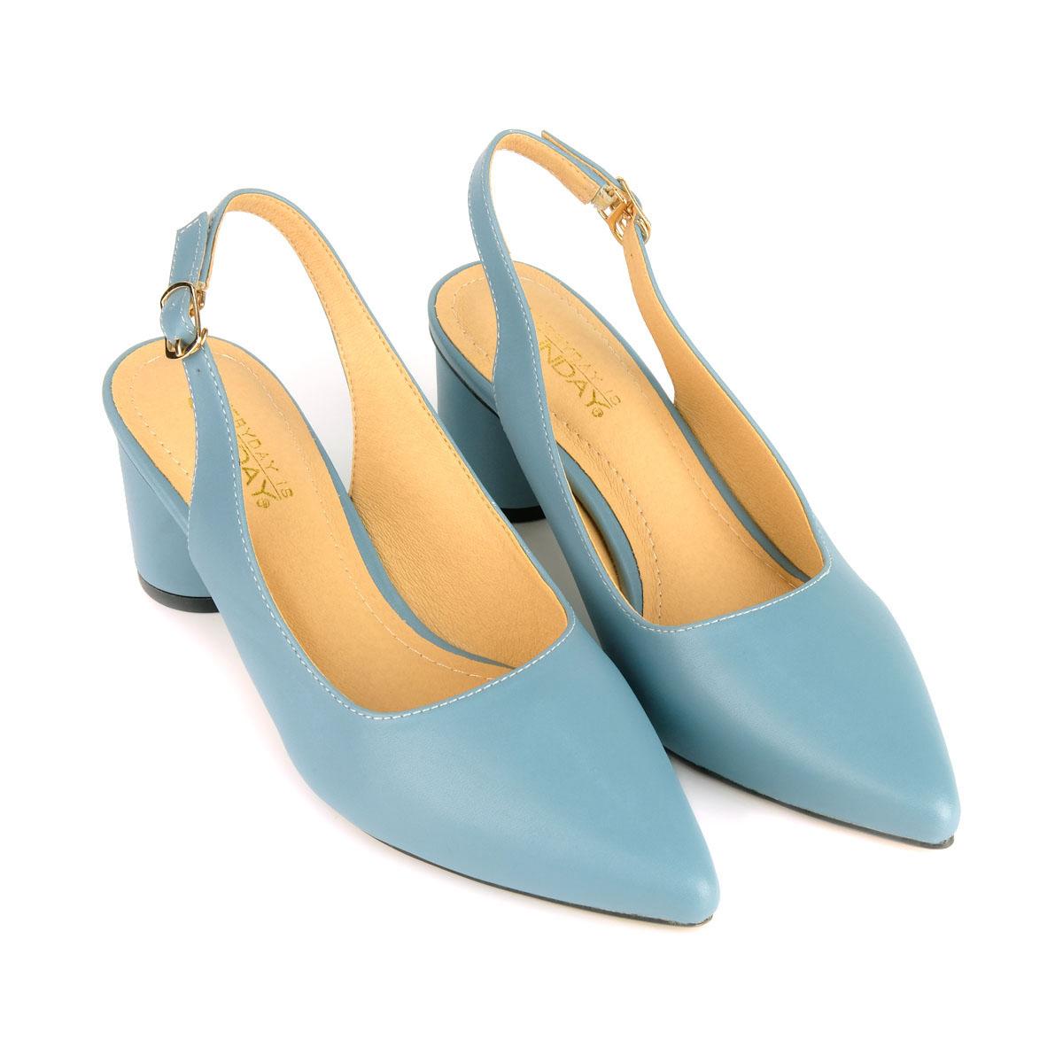 Giày cao gót đế trụ SUNDAY CG48 – Màu xanh dương