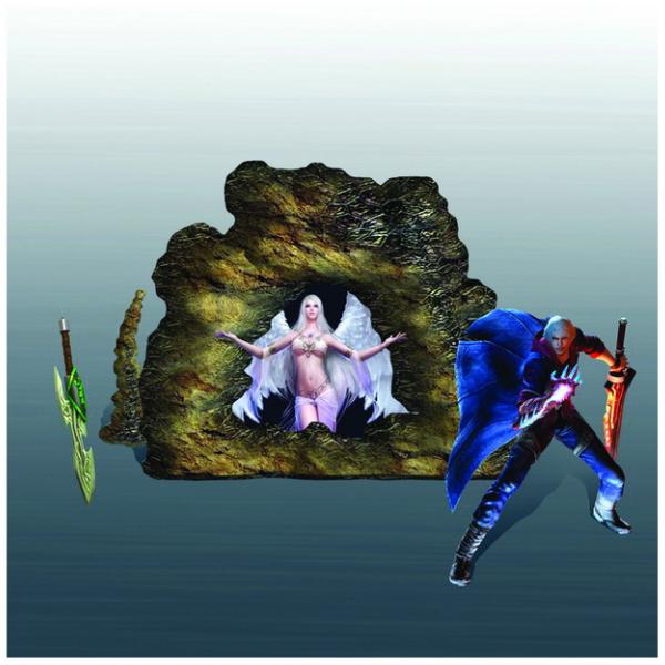 Tranh 3D trang trí tường nhân vật game
