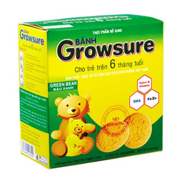 Bánh Growsure vị đậu xanh 168 gram dành cho bé ăn dặm từ 6 tháng Bibica