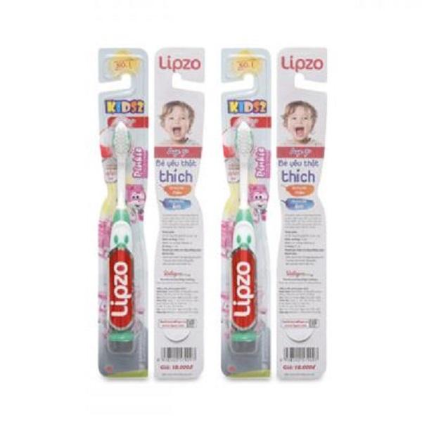Bộ 4 bàn chải đánh răng Lipzo Kids S2 cho bé 1-5 tuổi