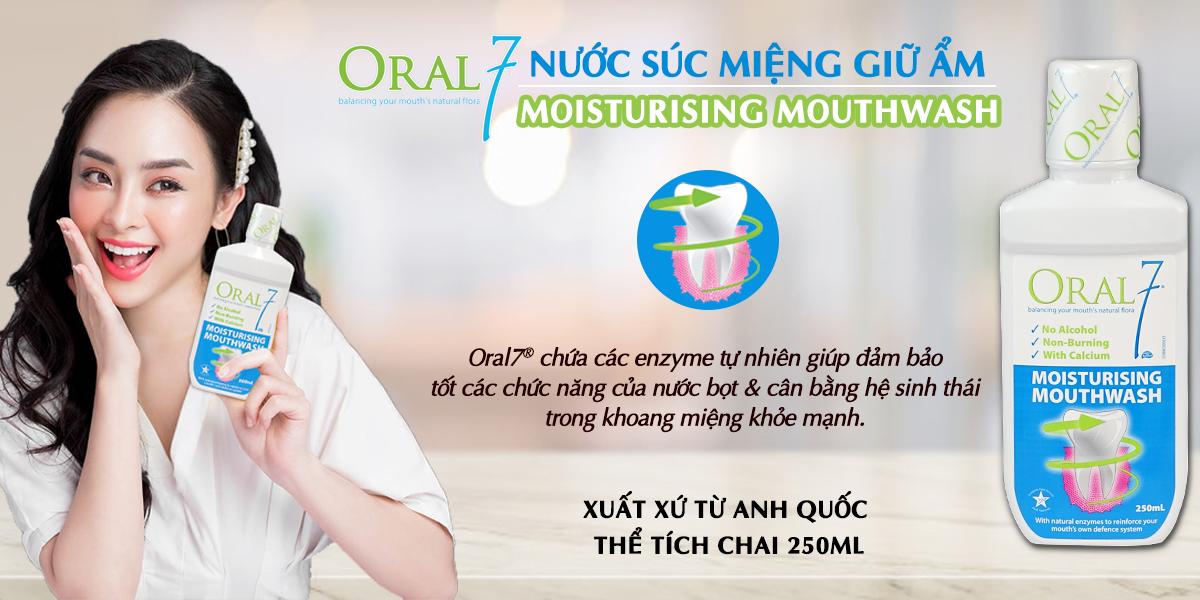 Nước súc miệng giữ ẩm Oral7® Moisturising Mouthwash 250ml