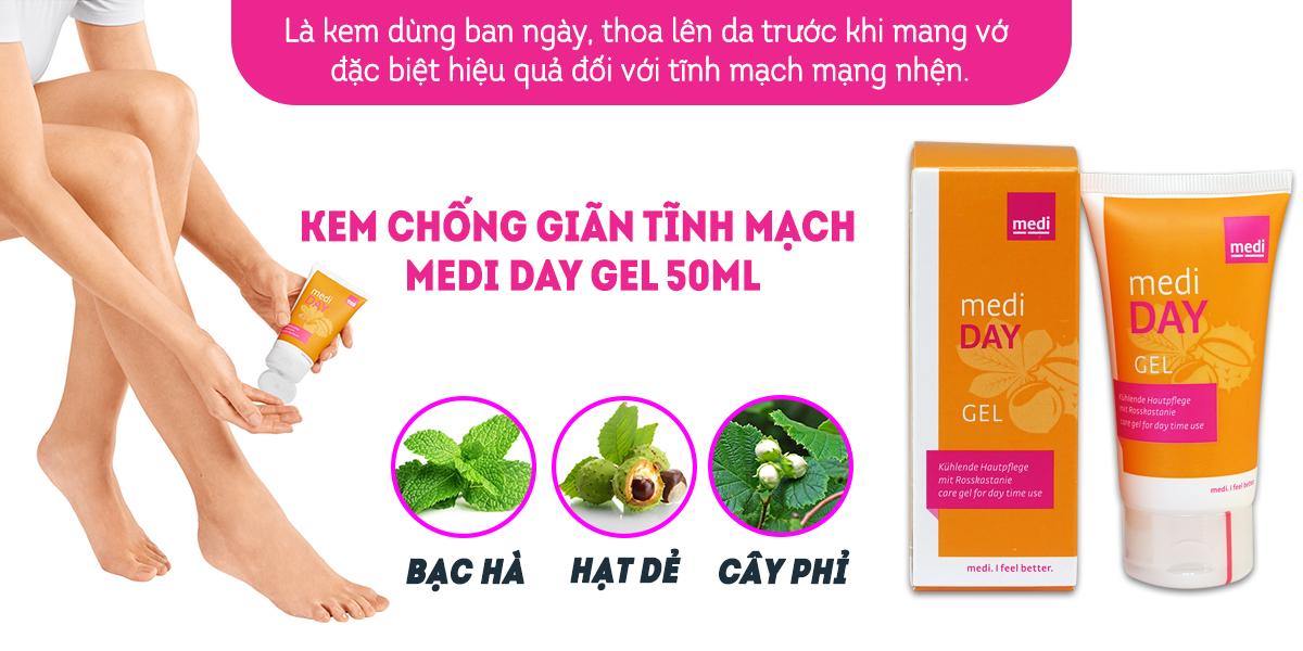 Kem chống giãn tĩnh mạch Medi Day Gel 50ml