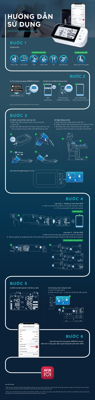 Cách sử dụng máy đo huyết áp bắp tay Omron HEM 7361T