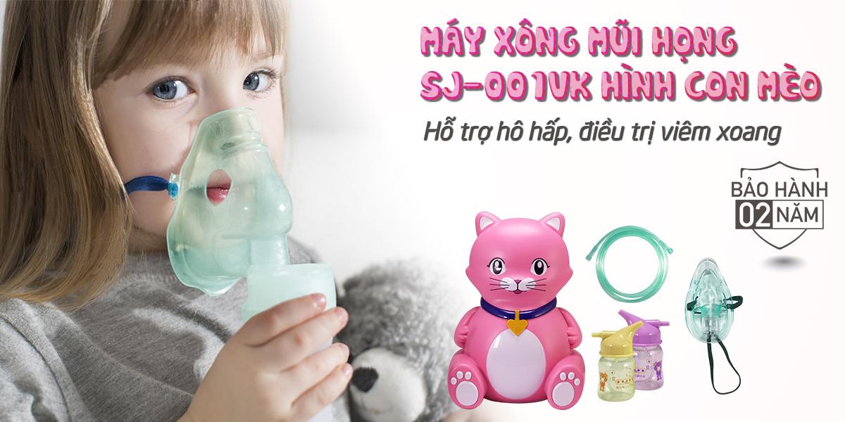 Máy xông khí dung Poly Baby SJ-001VK hình mèo đa chức năng