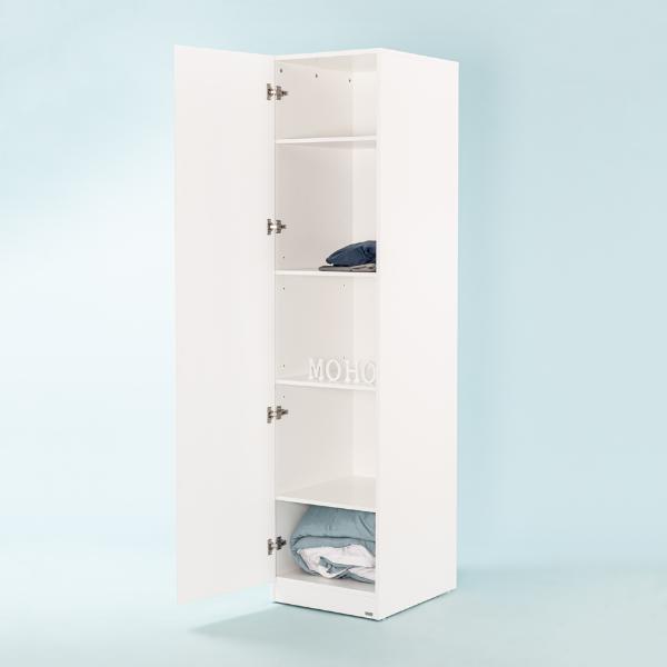 Tủ quần áo gỗ kệ ngăn MOHO VIENNA 201 màu trắng