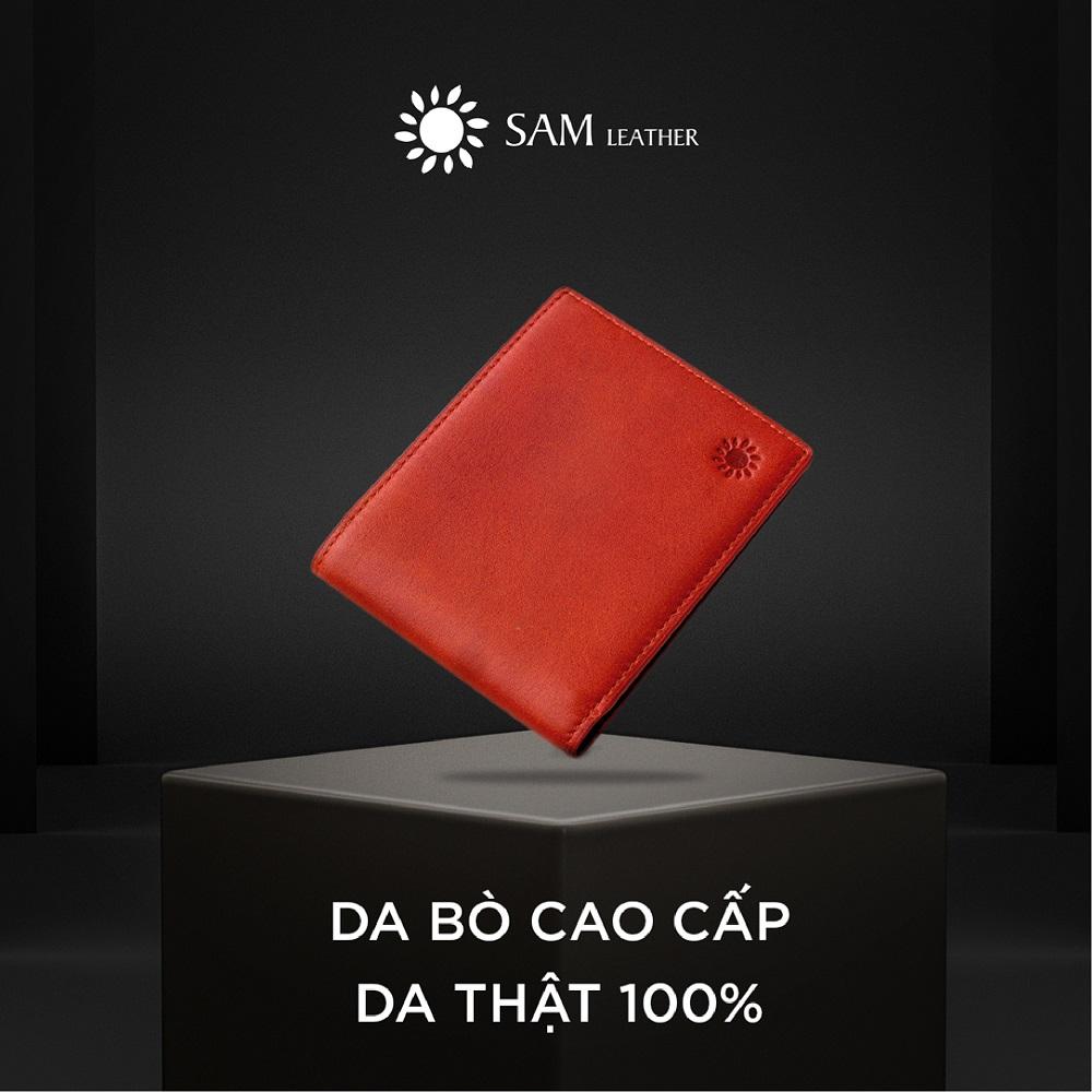 Ví da nam – ví nam da bò Sam Leather SAM014 ví nam hàng chính hãng bảo hành 1 năm