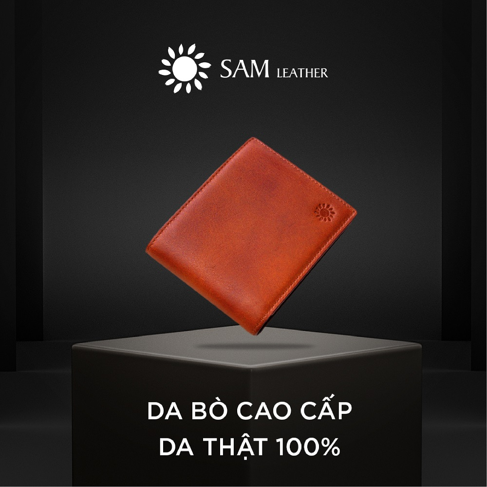 Ví nam da bò Sam Leather SAM005 – ví da nam hàng chính hãng bảo hành 1 năm