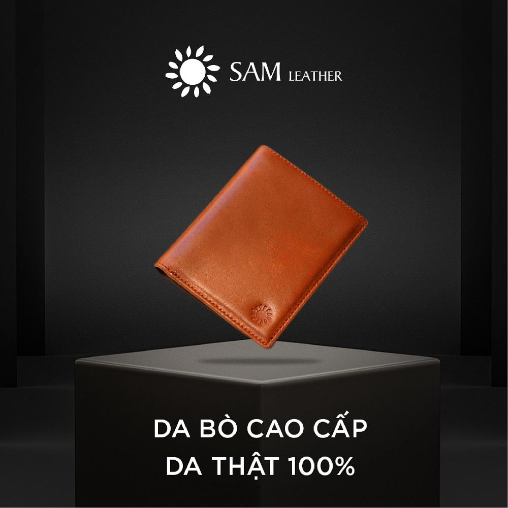 Ví nam da bò Sam Leather SAMDKL008 – ví da nam hàng chính hãng bảo hành 1 năm