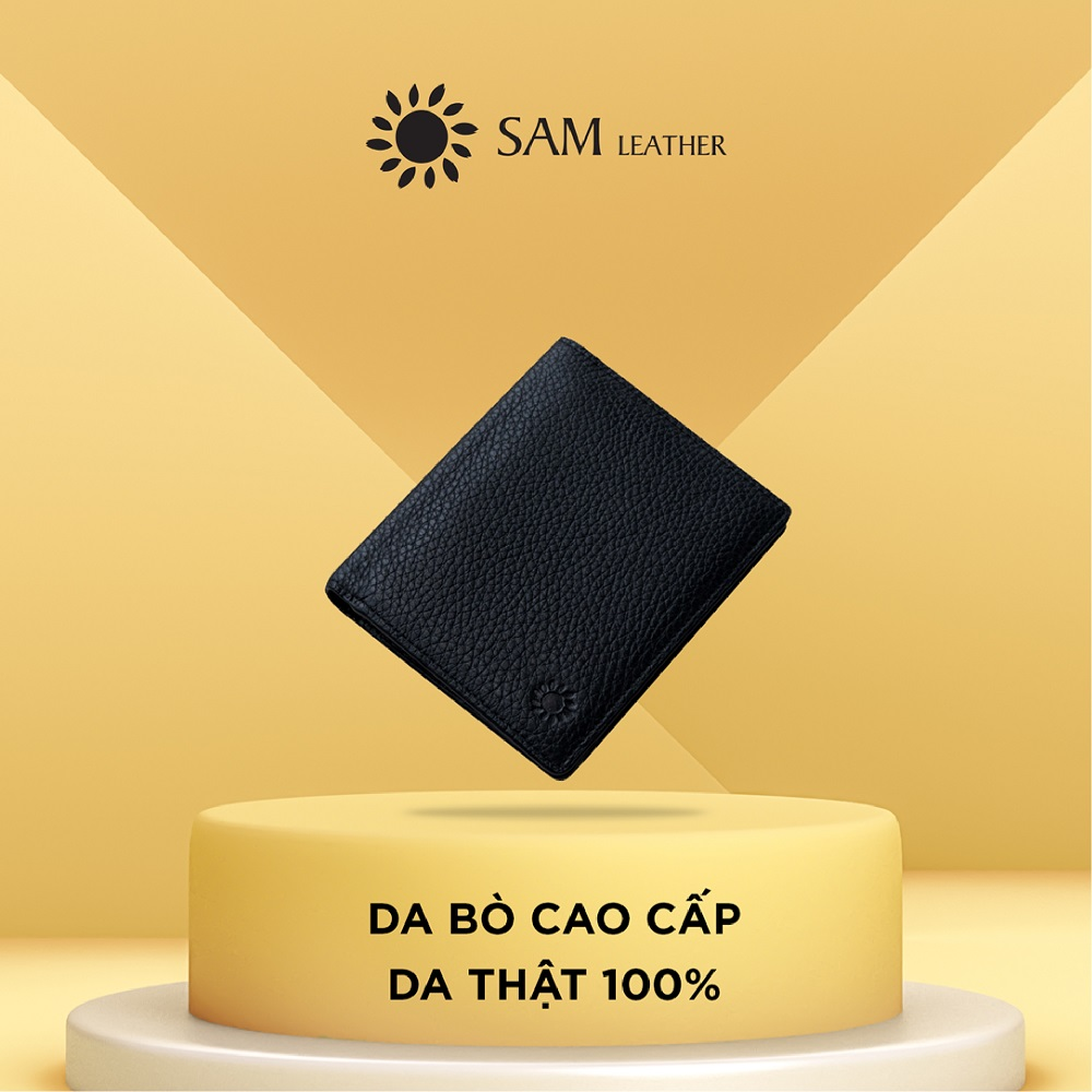 Ví nam da bò Sam Leather SAMDKL012 – ví da nam hàng chính hãng bảo hành 1 năm