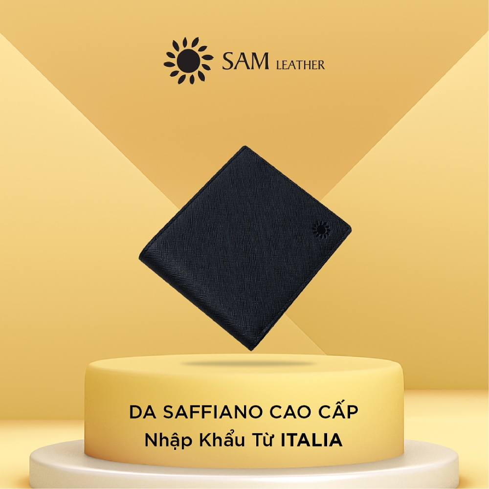 Ví nam da bò Sam Leather SAM001 – ví da nam hàng chính hãng bảo hành 1 năm