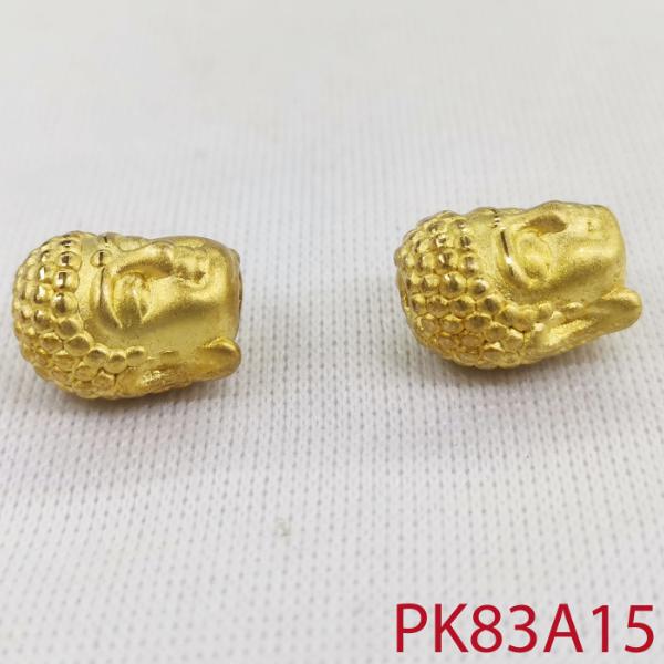 Charm đầu phật mạ vàng phối trang sức phụ kiện phong thuỷ nam nữ sang trọng đẳng cấp pk83a15