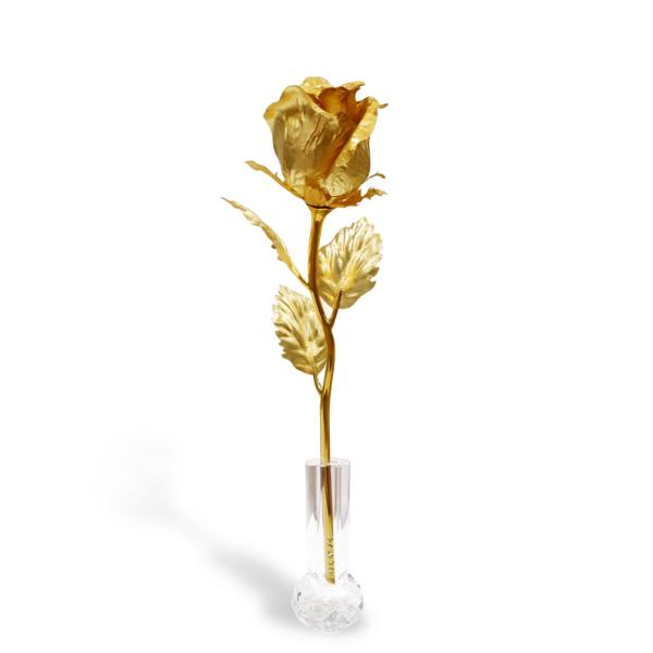 HỒNG VÀNG DIỄM SẮC 1 - quà tặng mỹ nghệ Kim Bảo Phúc phủ vàng 24K DOJI BT.HVDS Z.GF-001-0220