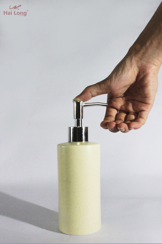 bình đựng dầu gội đầu bằng sứ
