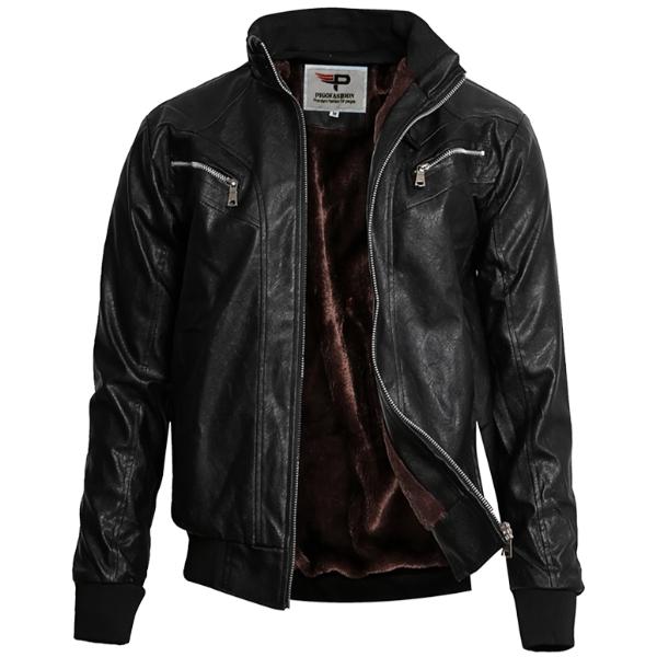 Áo khoác da nam lót lông thu đông cao cấp pigo fashion AD91