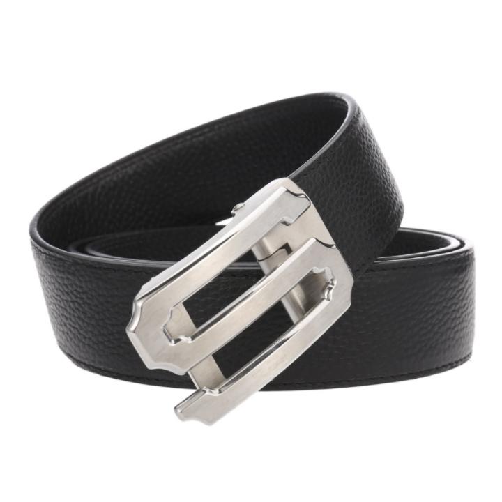 Dây nịt nam – thắt lưng nam Sam Leather SFDN001SB dây nịt da bò thật đầu khóa inox nguyên khối hàng chính hãng