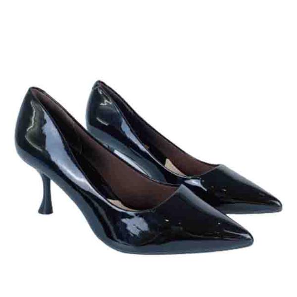 Giày cao gót nữ 7 phân GIRLIE S36310 da bóng. gót cách điệu thời trang 2020-2021