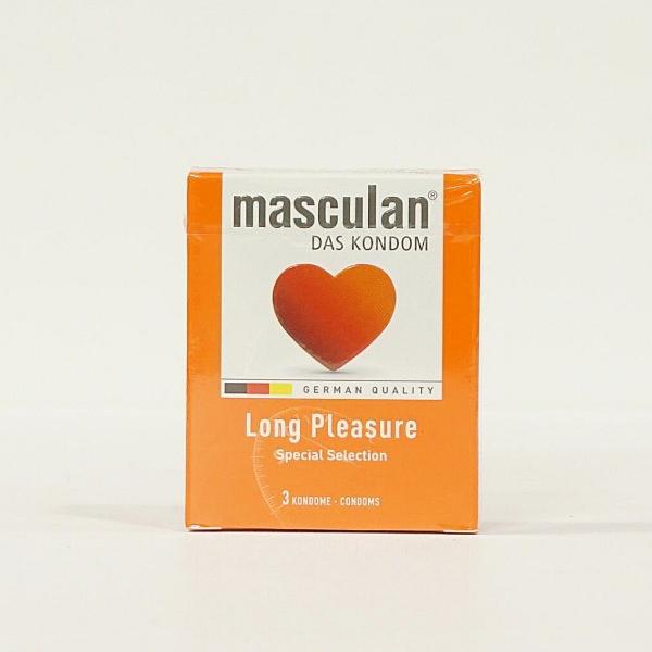Bao cao su kéo dài thời gian Masculan Long Pleasure – Loại 3 bao