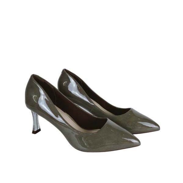Giày cao gót nữ 7 phân GIRLIE S36510 da bóng. Gót cách điệu thời trang 2020-2021