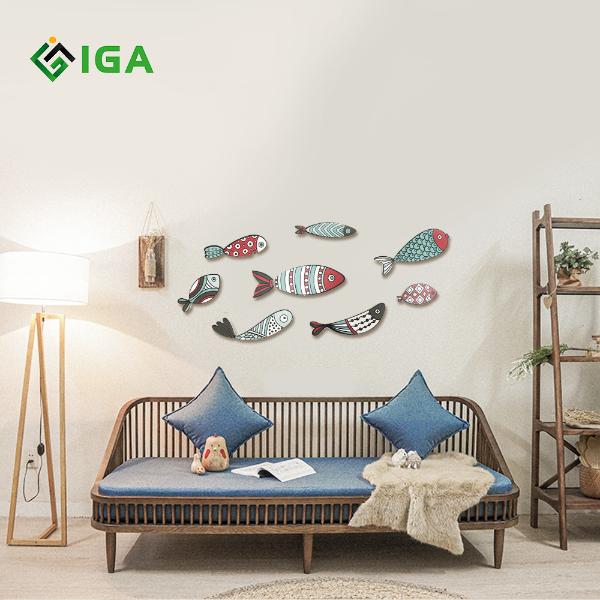 Bộ tranh color fish treo tường trang trí phòng khách , phòng ngủ , phòng ăn – 02
