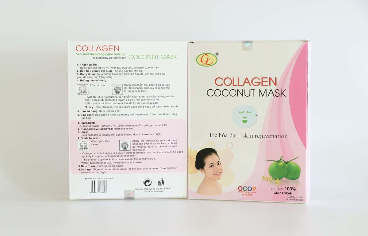 Mặt nạ dừa Collagen