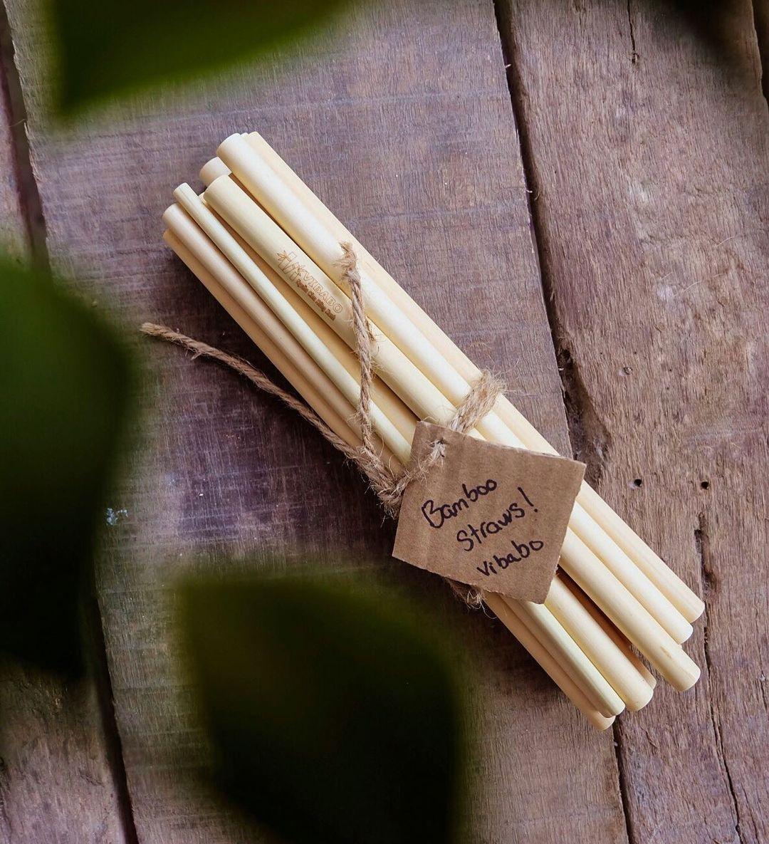 Ống hút Tre, Bamboo straws, 1 thùng size L20, Đường kính từ 12mm đến 15mm, dài 200±2mm, số lượng từ 600 đến 800 ống.