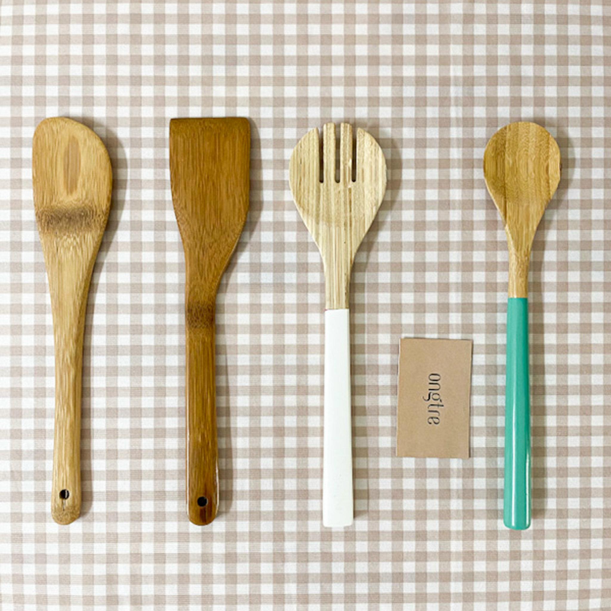 Bộ sản phẩm dụng cụ nhà bếp bằng tre tiện dụng - ONGTRE Vietnam