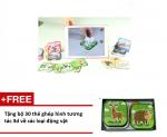 Bộ thẻ học song ngữ 3D Ekidar 96 thẻ - Tặng bộ 30 thẻ Ekid