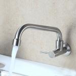 Vòi rửa bát đơn gắn tường inox304 Zento SUS4634