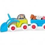Đồ chơi Midi Tractor With Trailer & Animals - VK701234