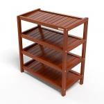 Kệ dép 4 tầng IB463 gỗ cao su 63x30x68 cm màu cánh gián