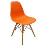 Ghế cafe Eames chân gỗ cam