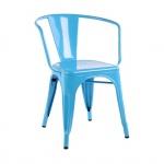 Ghế Tolix có tay màu xanh lam