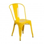 Ghế tựa Tolix lưng cao màu vàng - IBIE